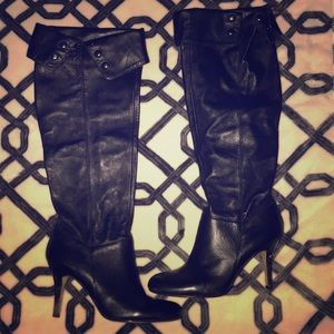 Leather Knee High Boots👢